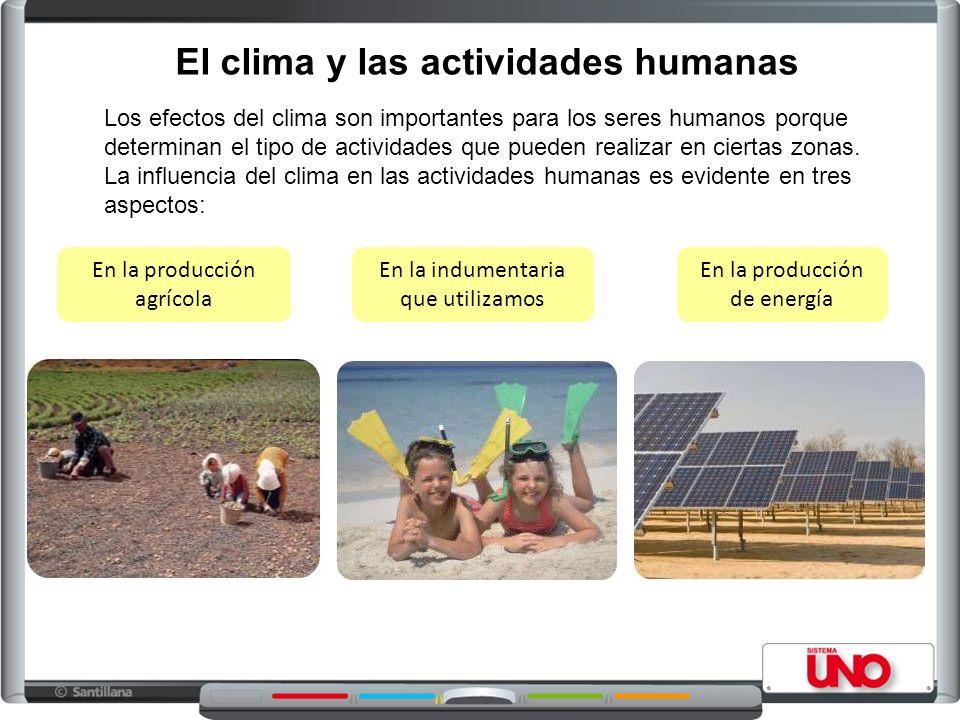 El clima y las actividades humanas