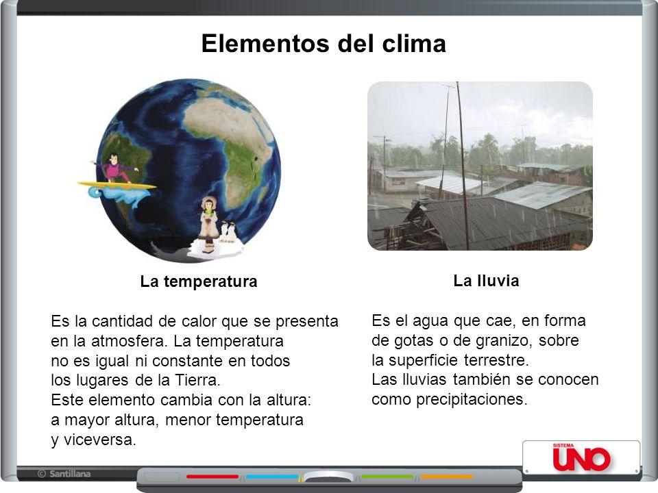 Elementos del clima La temperatura