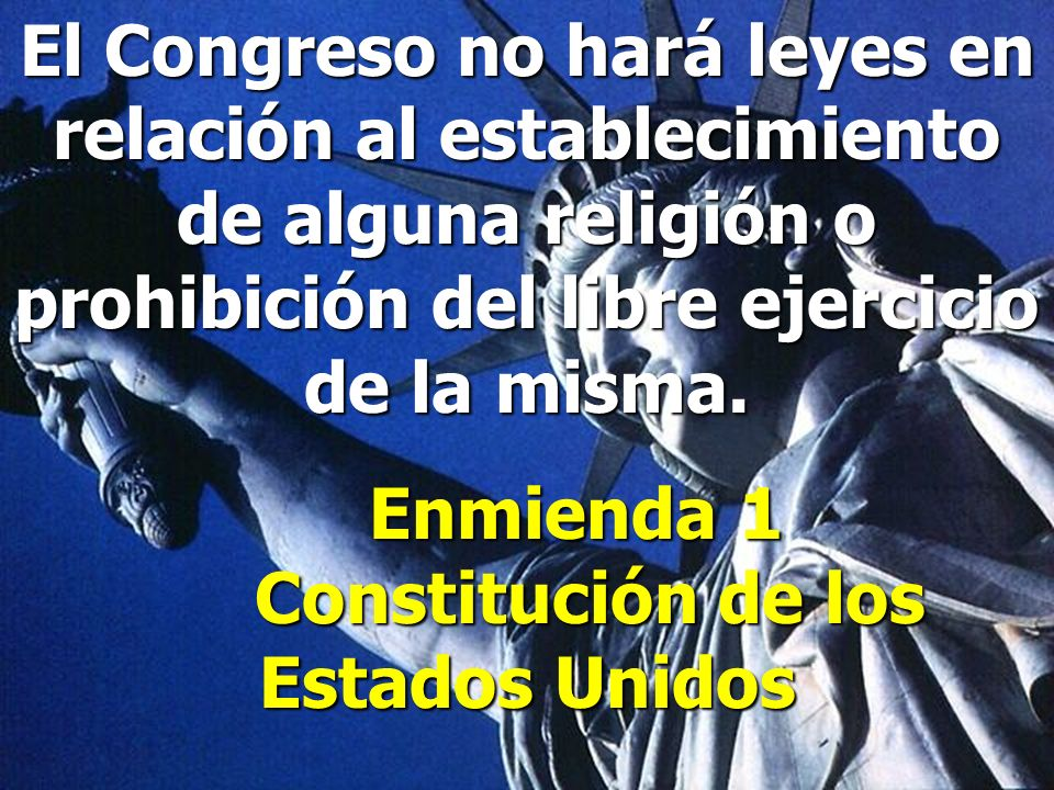 Enmienda 1 Constitución de los Estados Unidos