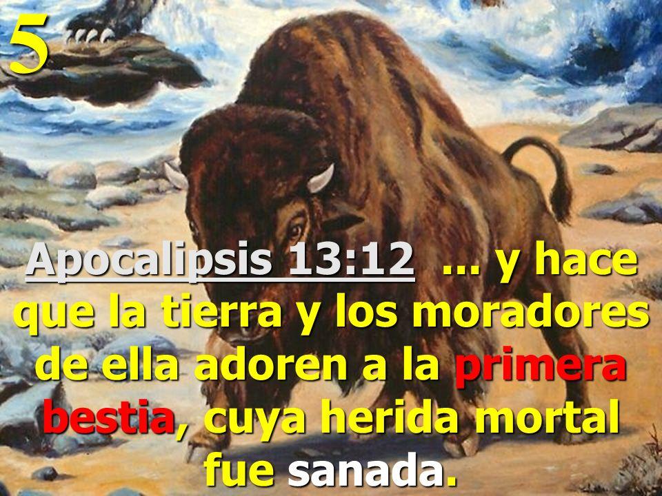 5 Apocalipsis 13:12 ...
