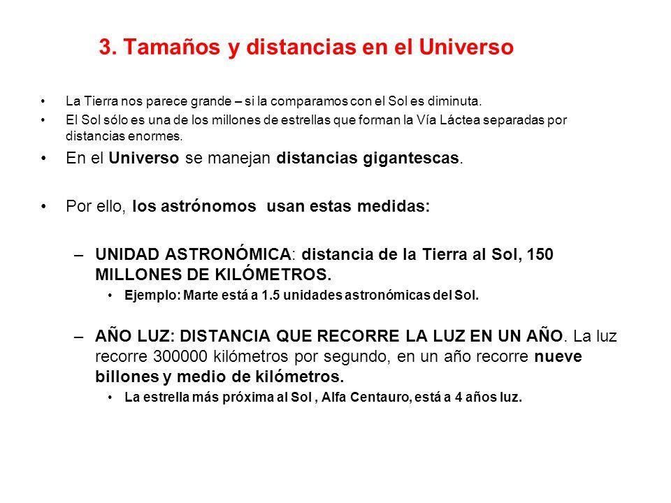 3. Tamaños y distancias en el Universo