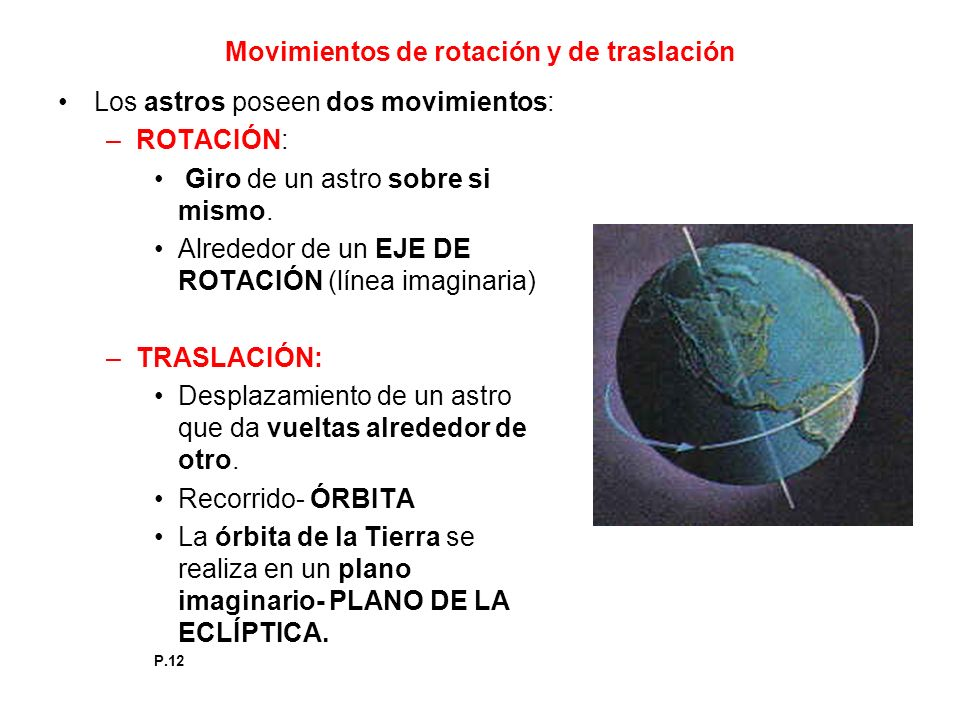 Movimientos de rotación y de traslación
