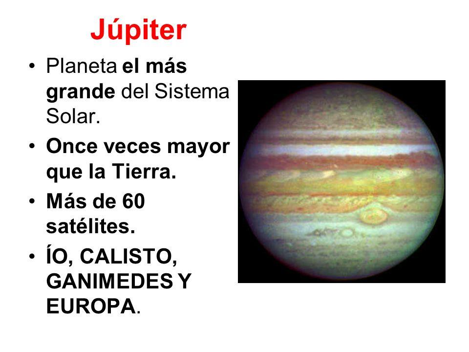 Júpiter Planeta el más grande del Sistema Solar.