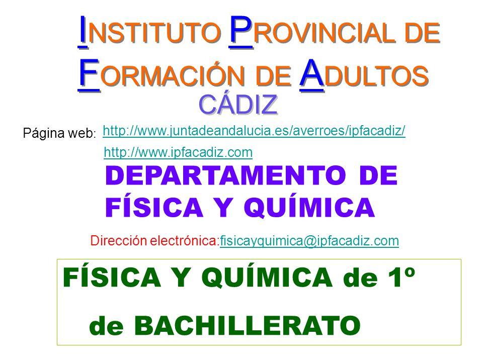 INSTITUTO PROVINCIAL DE FORMACIÓN DE ADULTOS