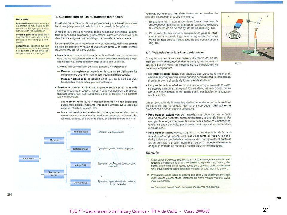 FyQ 1º - Departamento de Física y Química - IPFA de Cádiz - Curso 2008/09