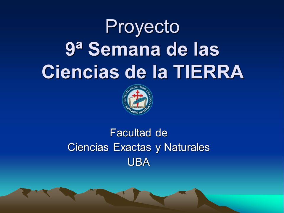 Proyecto 9ª Semana de las Ciencias de la TIERRA