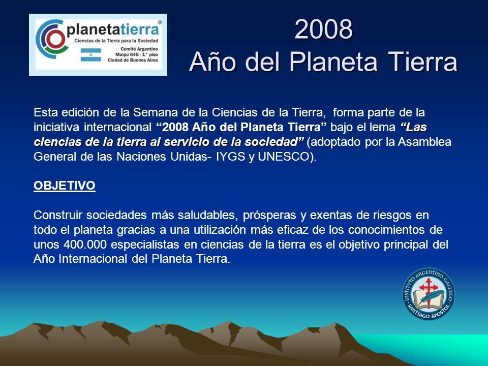 2008 Año del Planeta Tierra