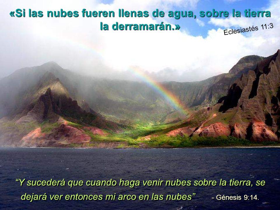 «Si las nubes fueren llenas de agua, sobre la tierra la derramarán.»