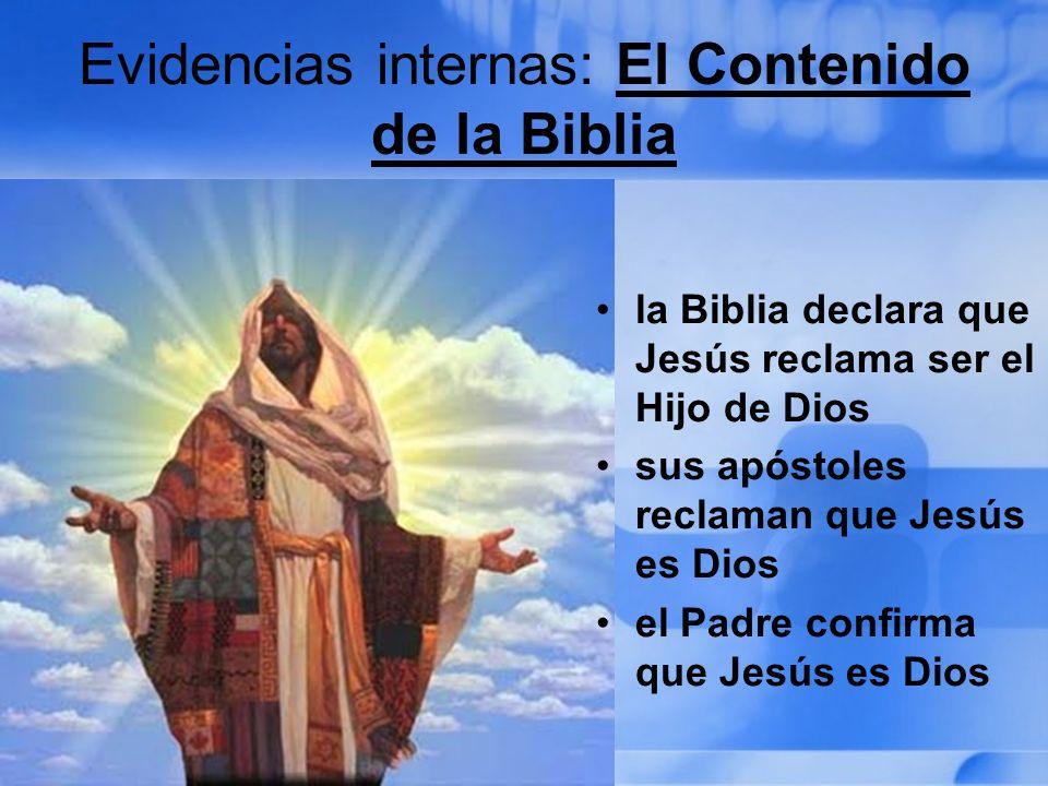 Evidencias internas: El Contenido de la Biblia