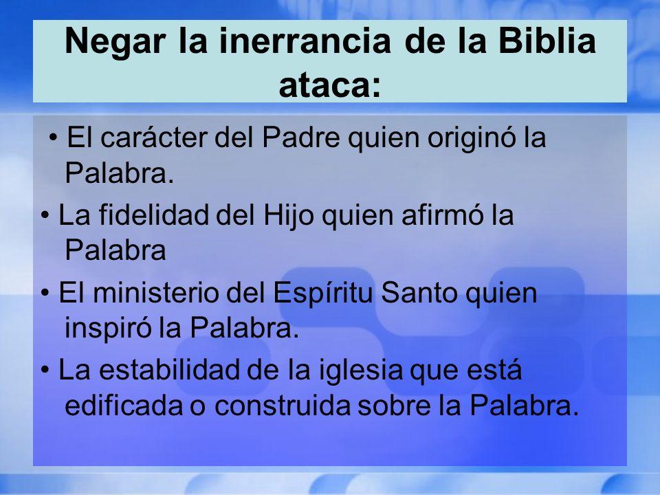 Negar la inerrancia de la Biblia ataca: