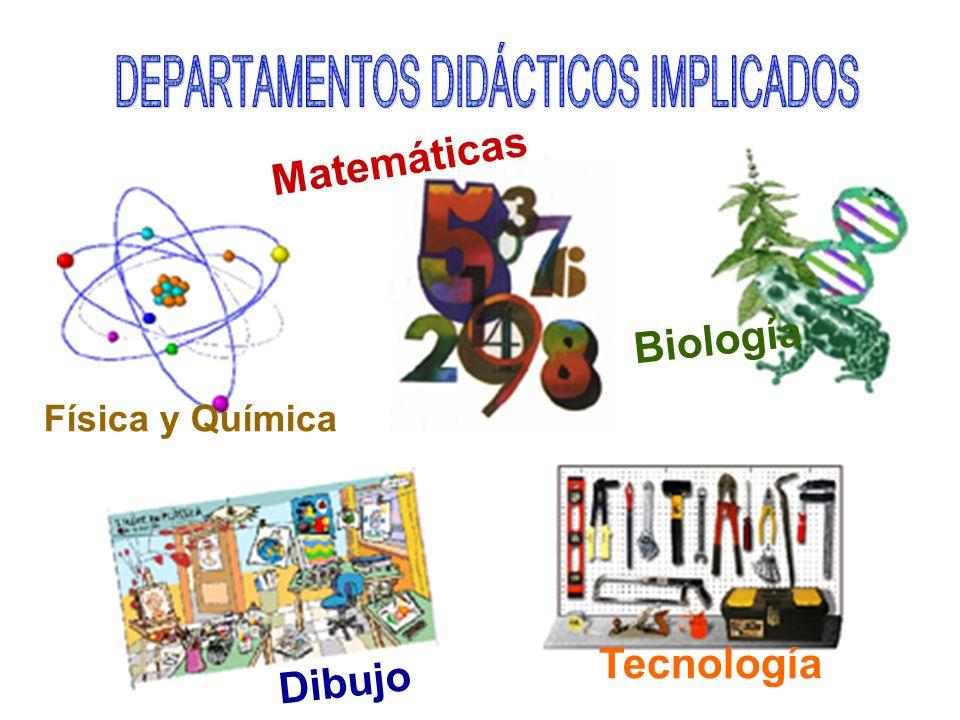 DEPARTAMENTOS DIDÁCTICOS IMPLICADOS