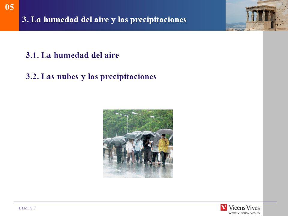 3. La humedad del aire y las precipitaciones