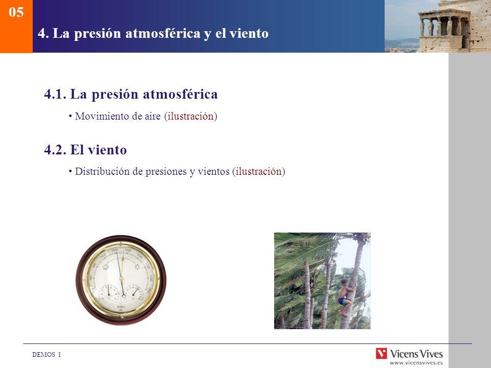 4. La presión atmosférica y el viento