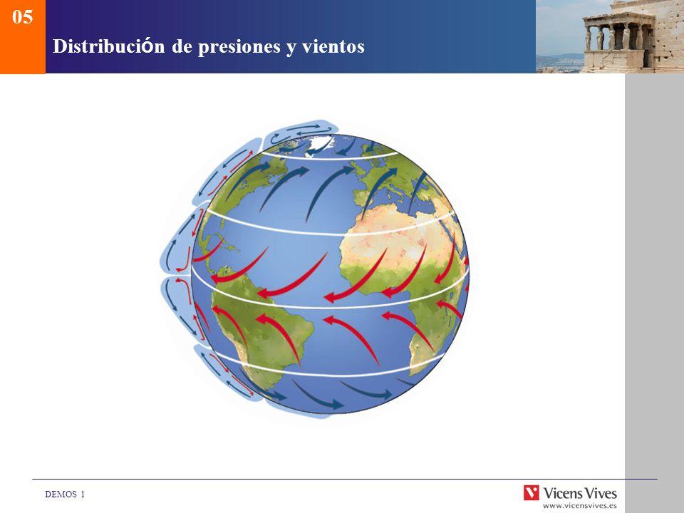 Distribución de presiones y vientos