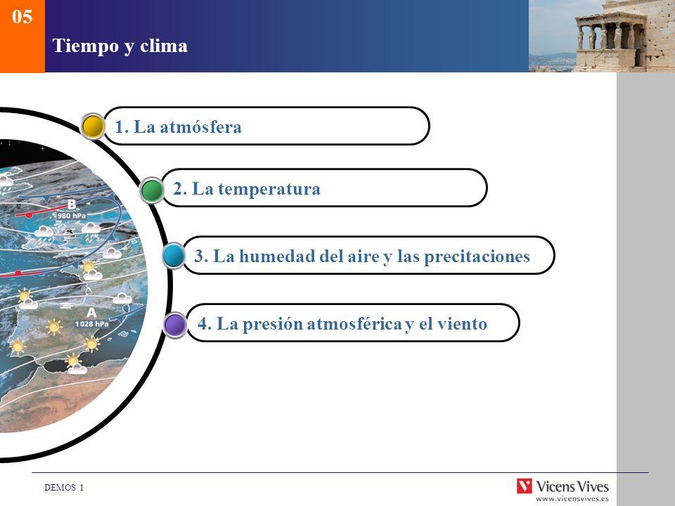 05 Tiempo y clima 1. La atmósfera 2. La temperatura
