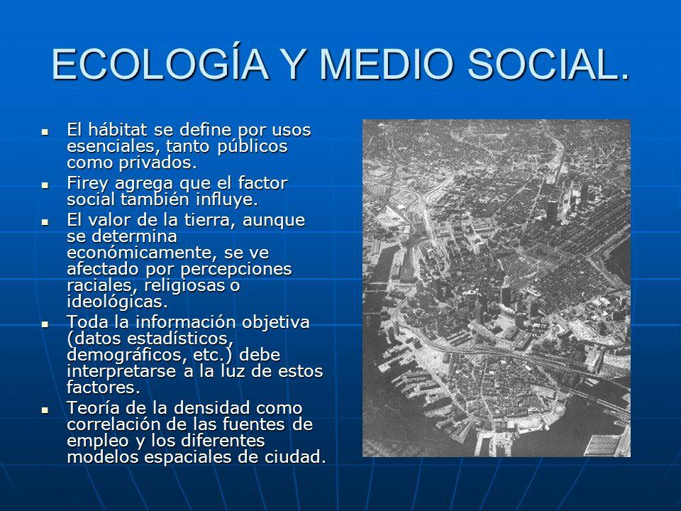 ECOLOGÍA Y MEDIO SOCIAL.
