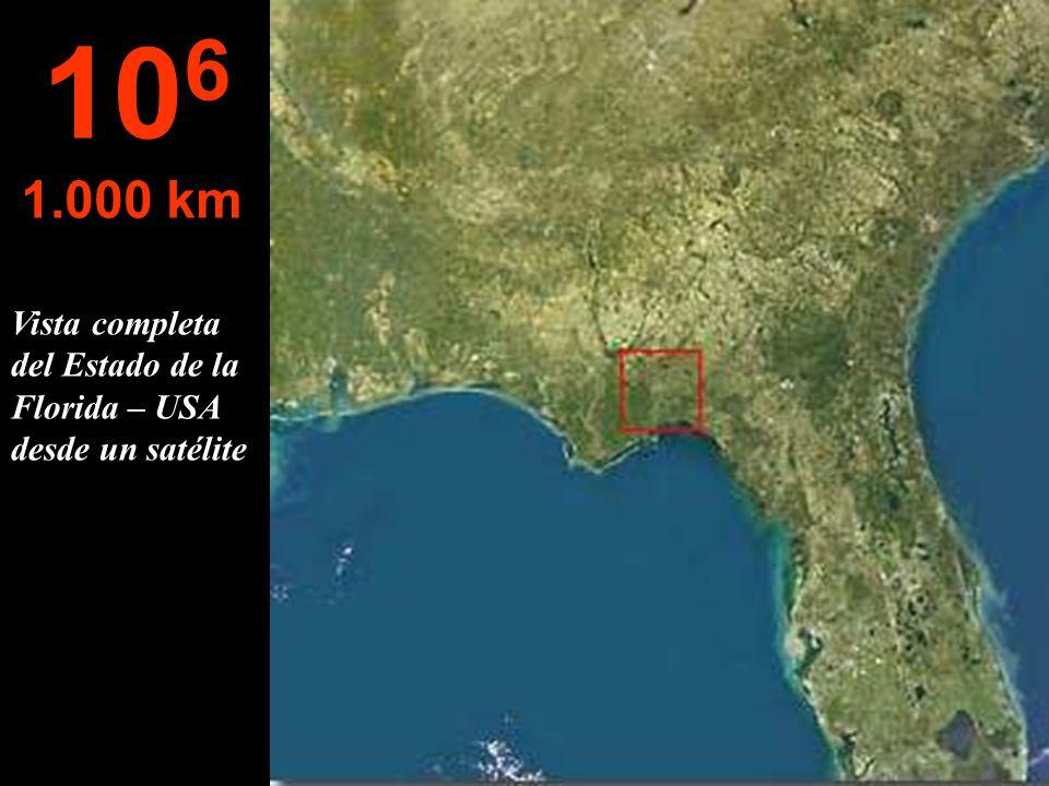 106 1.000 km Vista completa del Estado de la Florida – USA desde un satélite