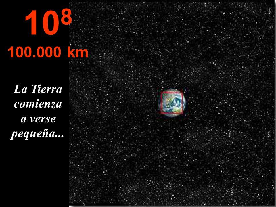 La Tierra comienza a verse pequeña...