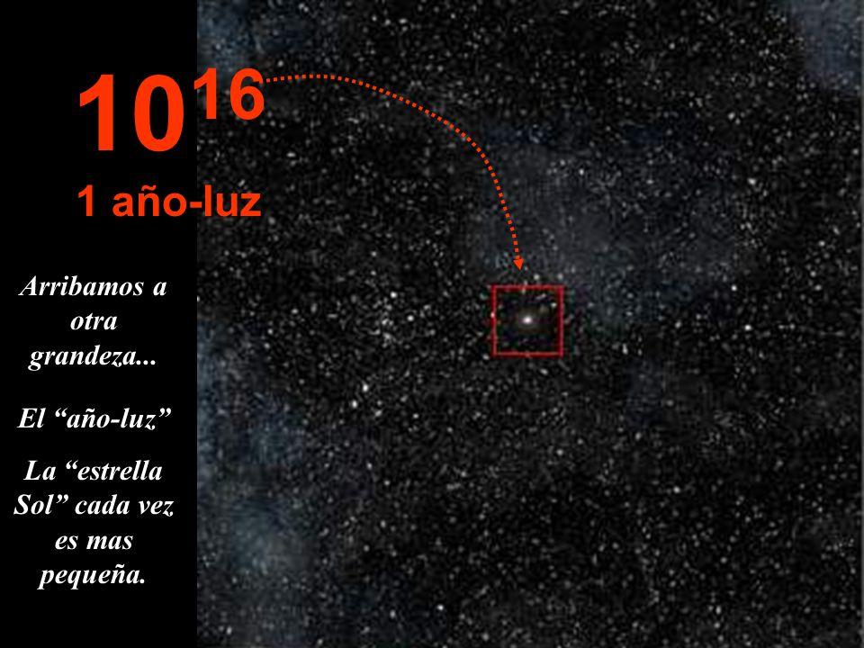 1016 1 año-luz Arribamos a otra grandeza... El año-luz