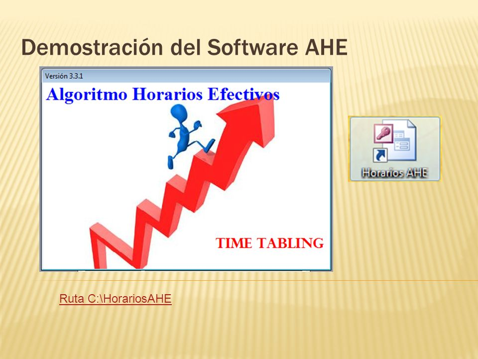 Demostración del Software AHE