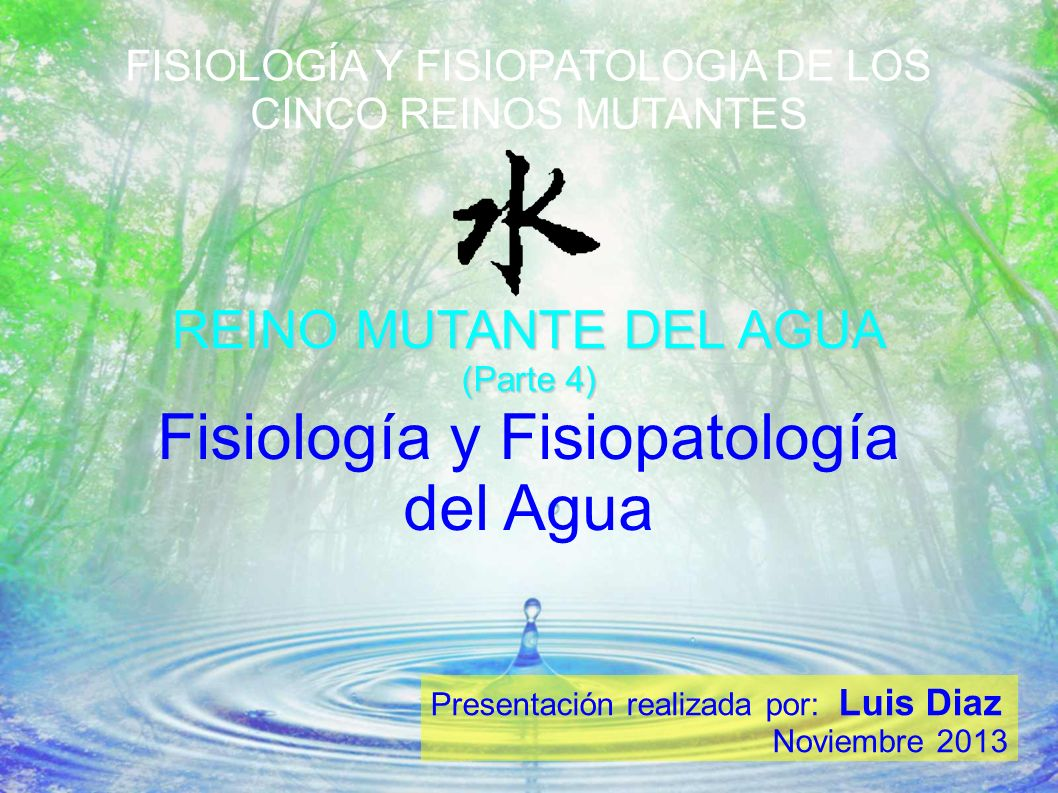 Fisiología y Fisiopatología del Agua