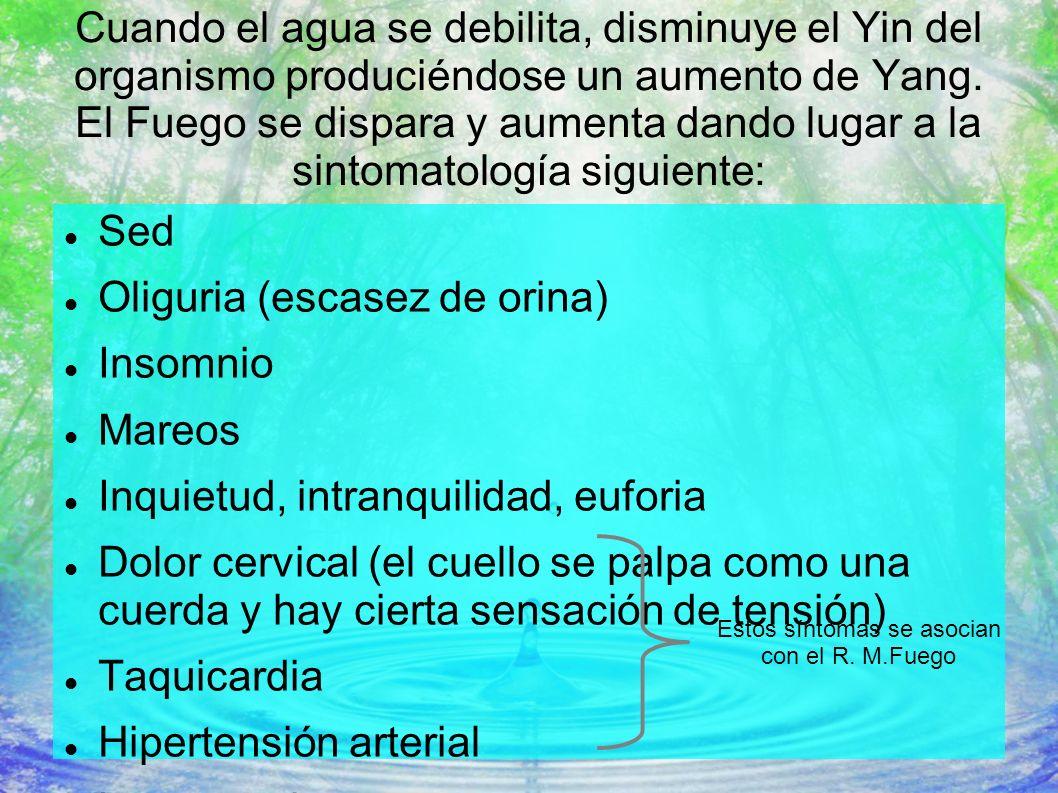 Estos síntomas se asocian con el R. M.Fuego
