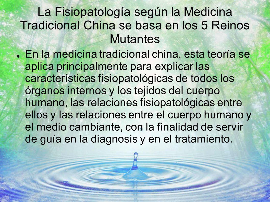 La Fisiopatología según la Medicina Tradicional China se basa en los 5 Reinos Mutantes