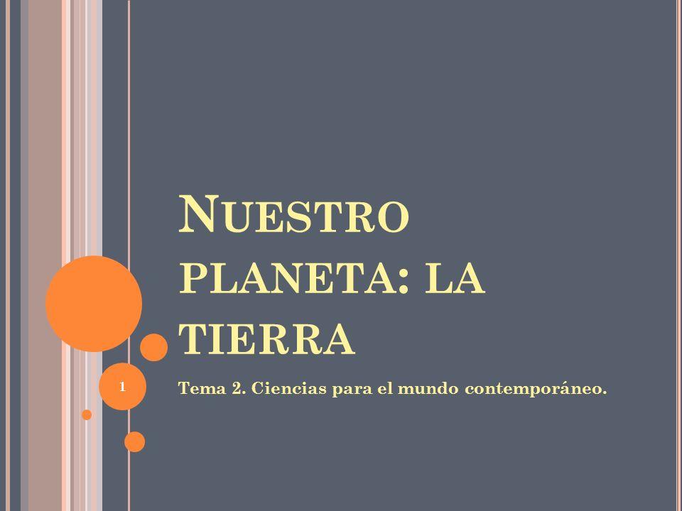 Nuestro planeta: la tierra