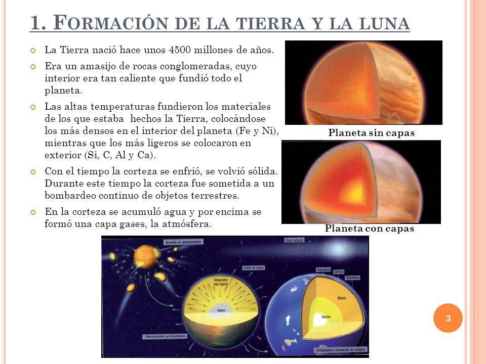 1. Formación de la tierra y la luna