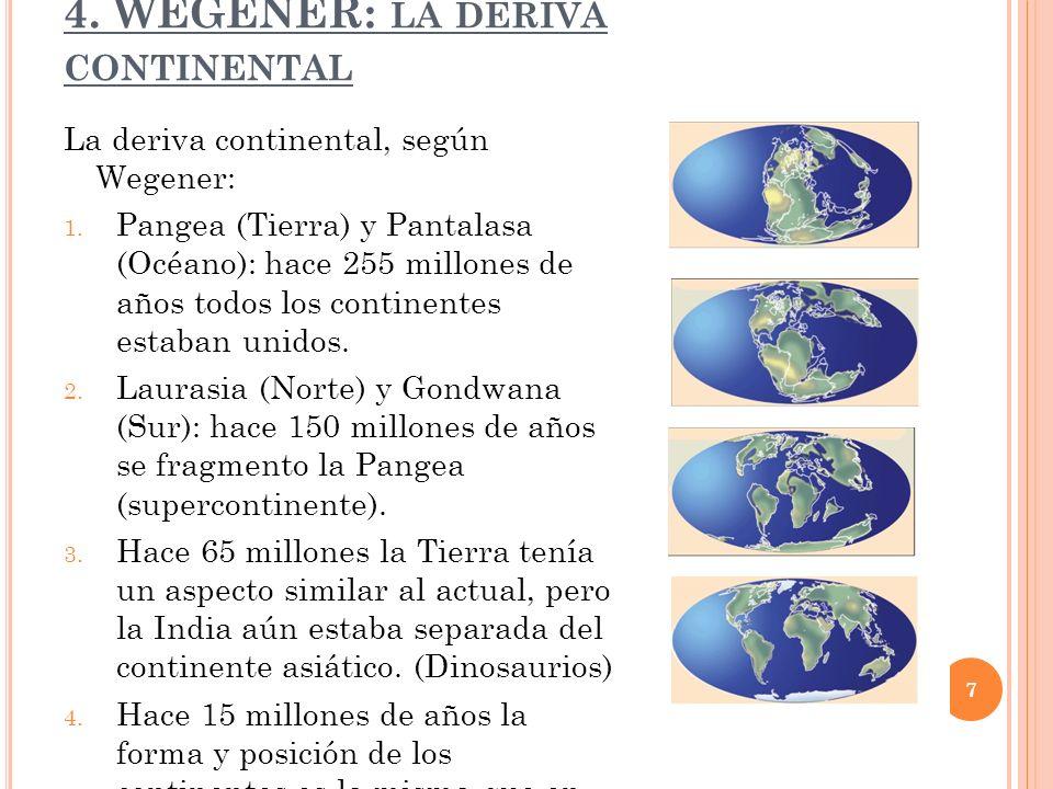 4. WEGENER: la deriva continental