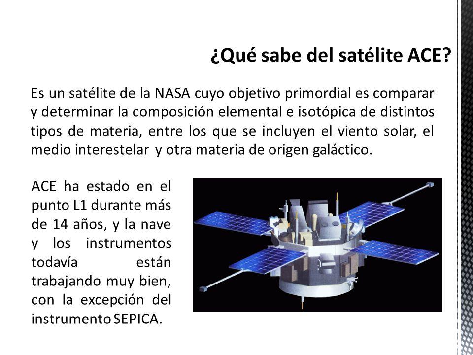 ¿Qué sabe del satélite ACE