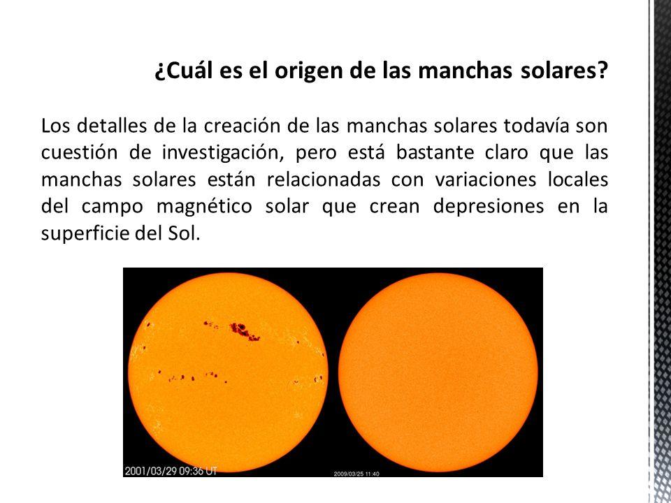 ¿Cuál es el origen de las manchas solares