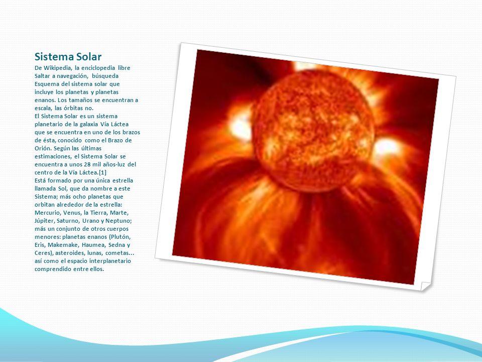 Sistema Solar De Wikipedia, la enciclopedia libre Saltar a navegación, búsqueda Esquema del sistema solar que incluye los planetas y planetas enanos.