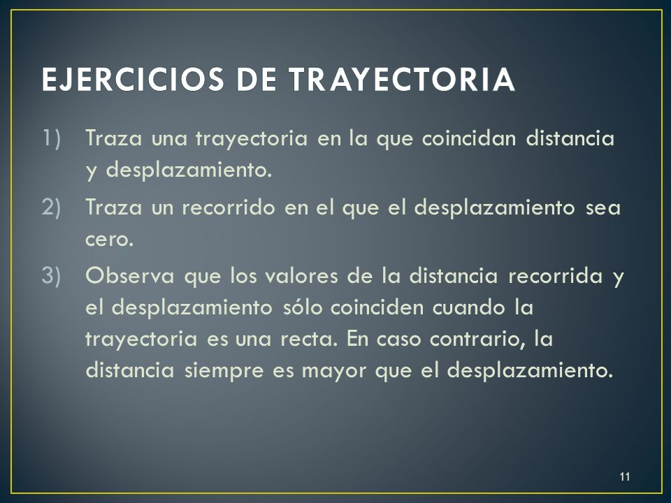 EJERCICIOS DE TRAYECTORIA