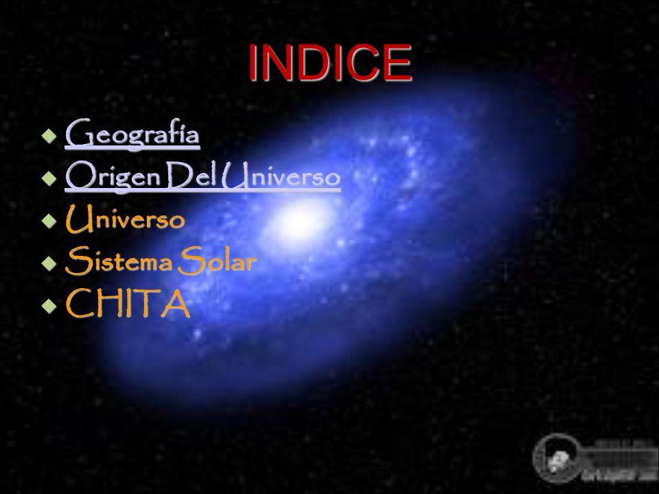 INDICE Geografía Origen Del Universo Universo Sistema Solar CHITA