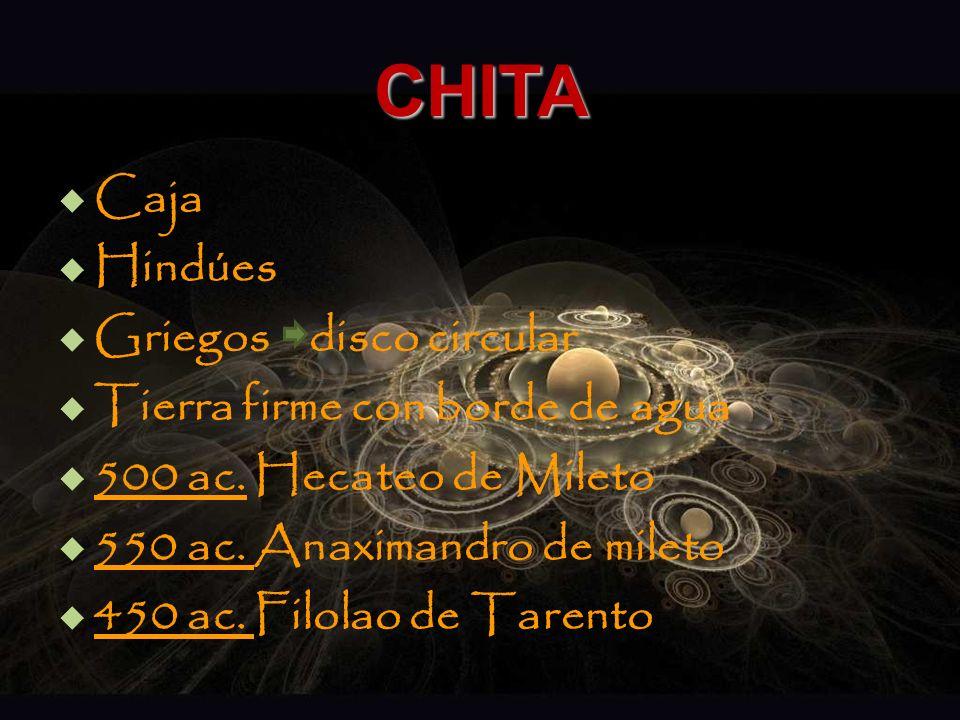 CHITA Caja Hindúes Griegos disco circular