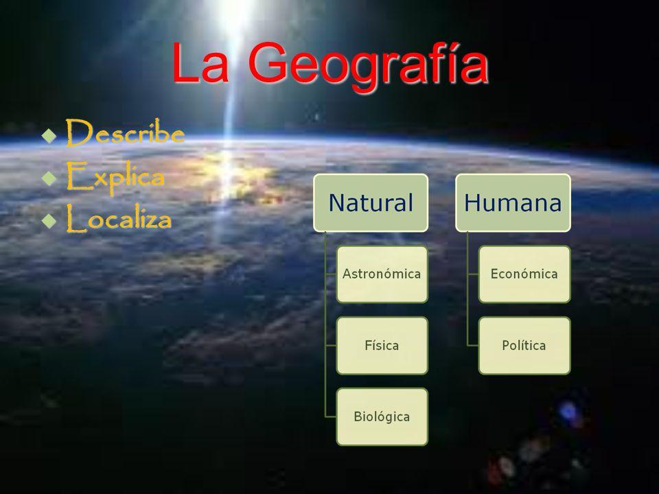 La Geografía Describe Explica Localiza