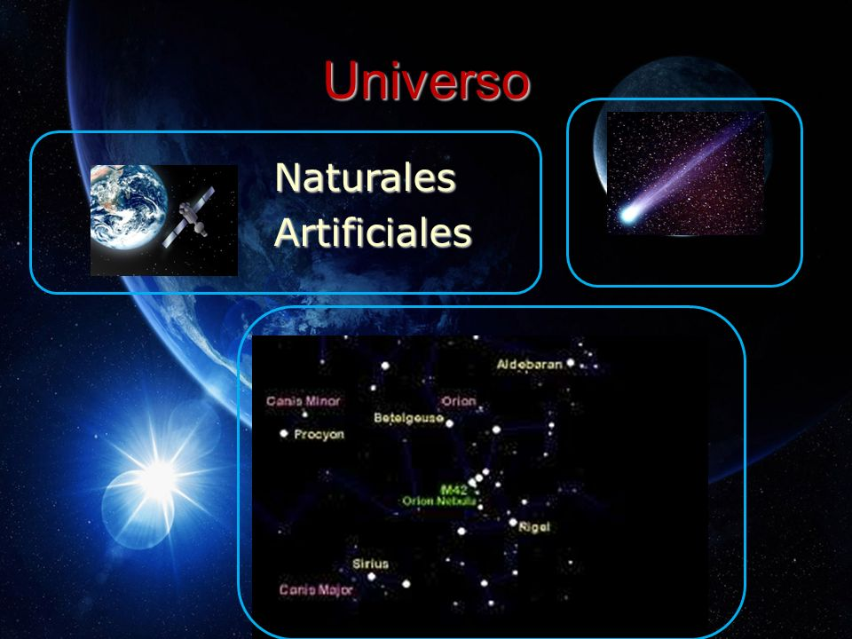 Universo Naturales Artificiales