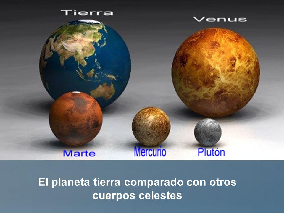 El planeta tierra comparado con otros cuerpos celestes