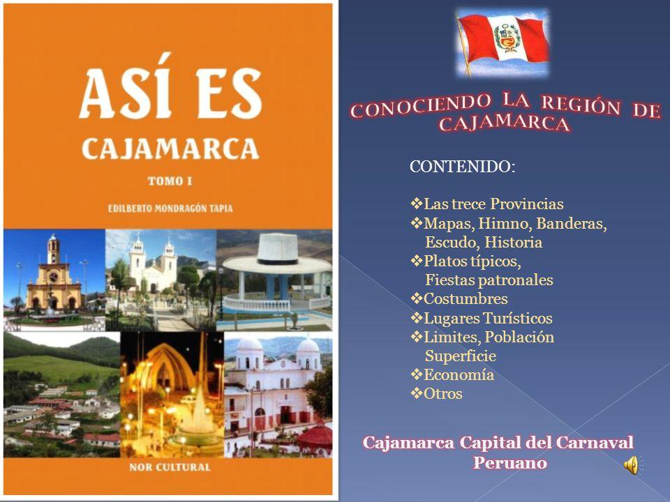 CONOCIENDO LA REGIÓN DE CAJAMARCA