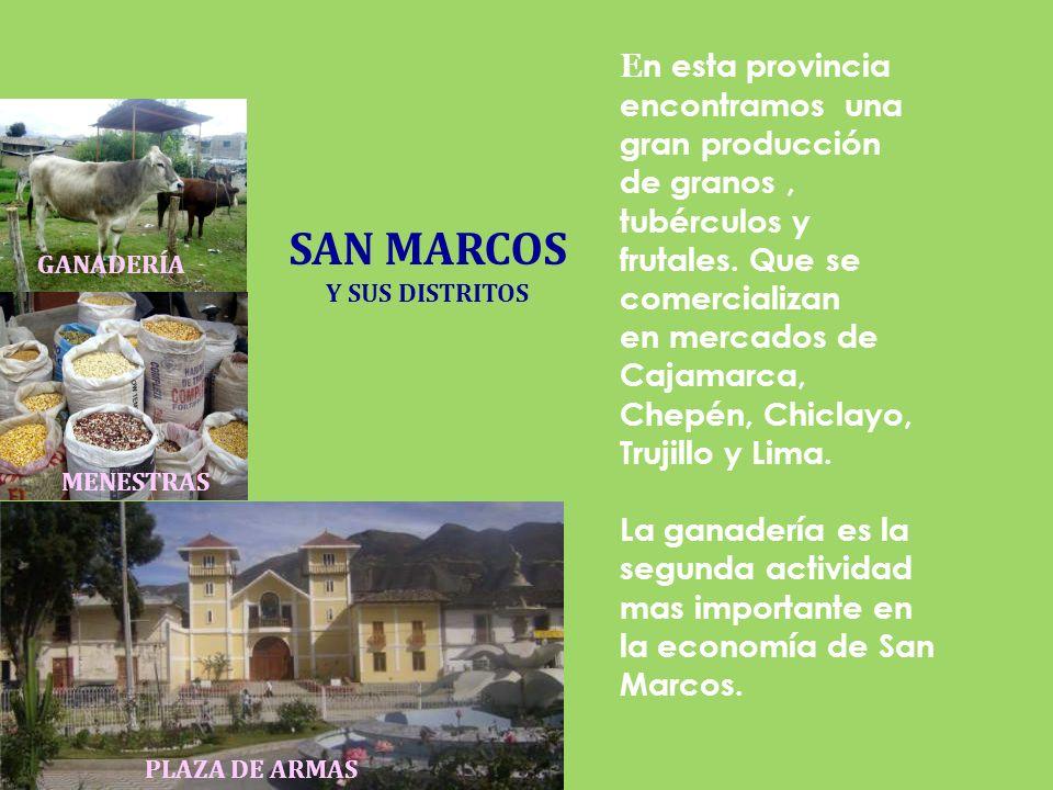 SAN MARCOS En esta provincia encontramos una gran producción