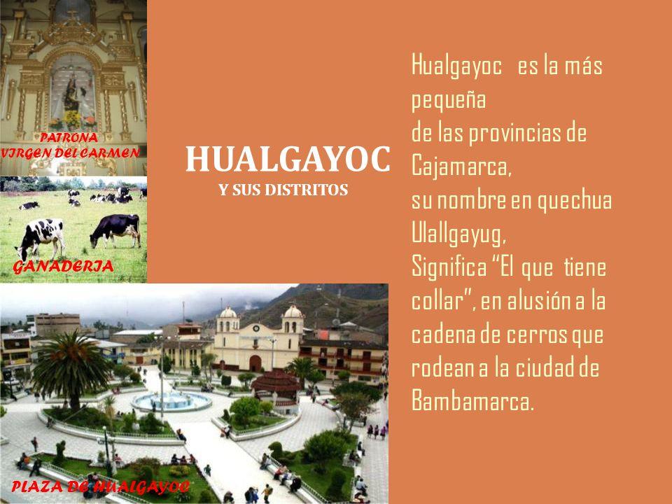 HUALGAYOC Hualgayoc es la más pequeña de las provincias de Cajamarca,