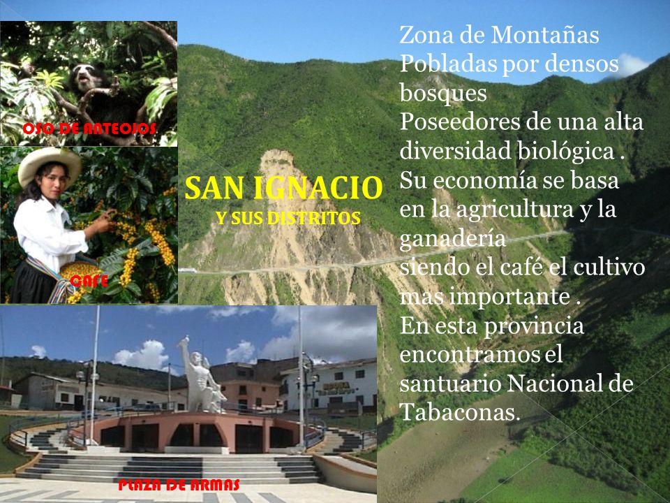 SAN IGNACIO Zona de Montañas Pobladas por densos bosques