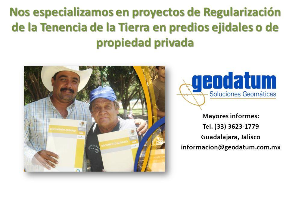Nos especializamos en proyectos de Regularización de la Tenencia de la Tierra en predios ejidales o de propiedad privada