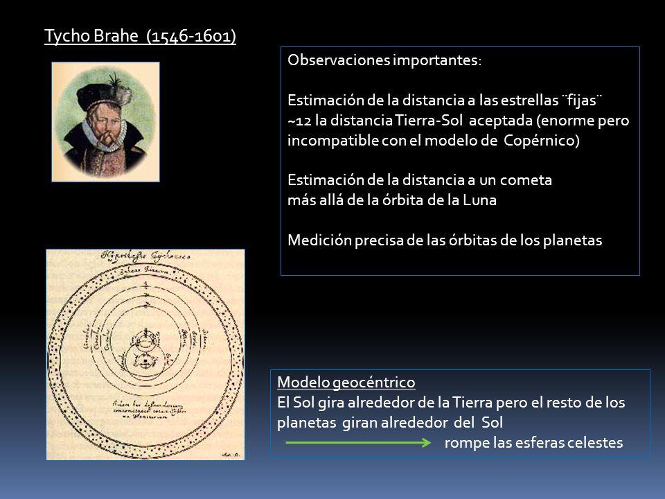 Tycho Brahe (1546-1601) Observaciones importantes: