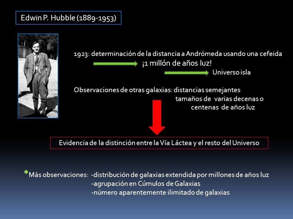Evidencia de la distinción entre la Vía Láctea y el resto del Universo