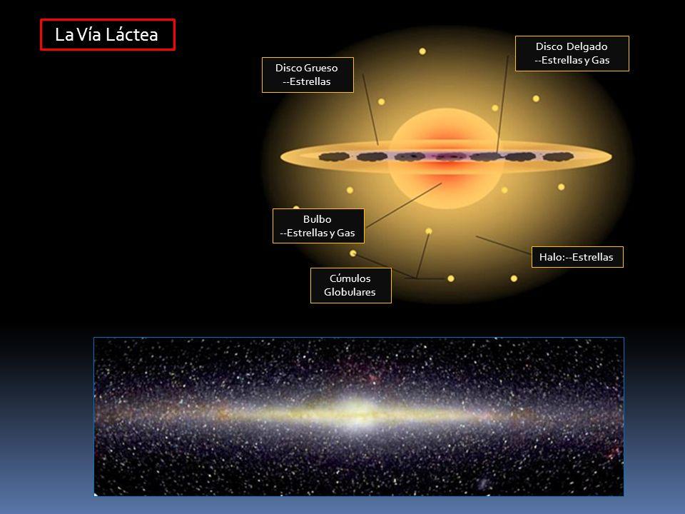 La Vía Láctea Disco Delgado --Estrellas y Gas Disco Grueso --Estrellas