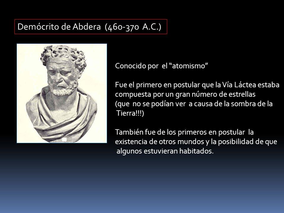 Demócrito de Abdera (460-370 A.C.)