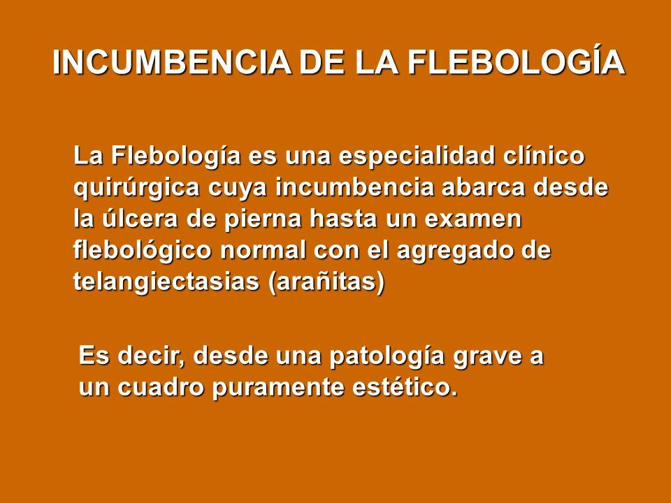 INCUMBENCIA DE LA FLEBOLOGÍA
