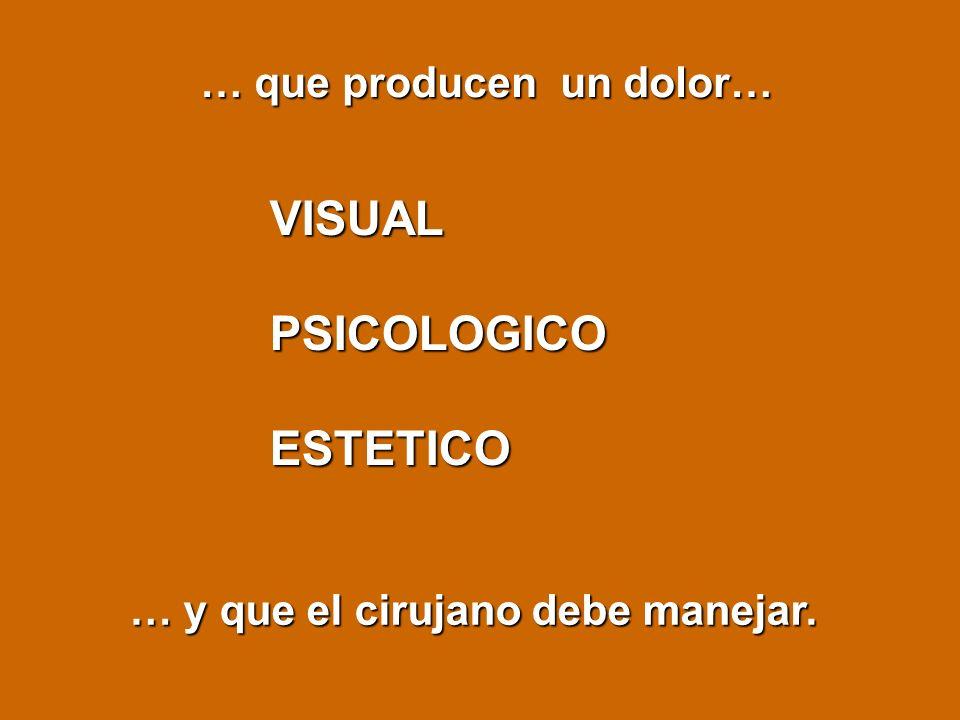 VISUAL PSICOLOGICO ESTETICO … que producen un dolor…